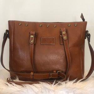 Patricia Nash brown leather tote